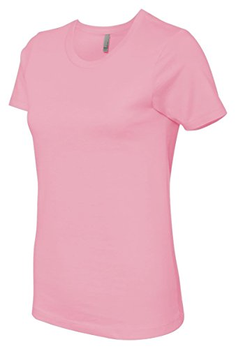 Next Level Signature Style Jersey T-Shirt, Light Pink, Small (Pack6)