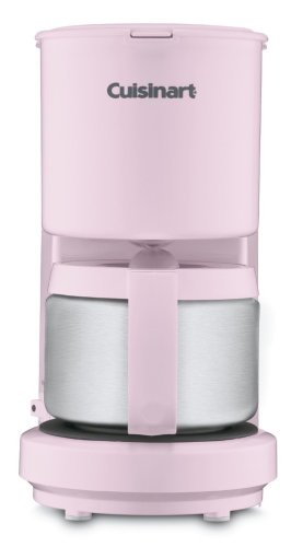 Cuisinart DCC-450PK 4-Cup Coffeemaker with Stainless Steel Carafe (Pink)