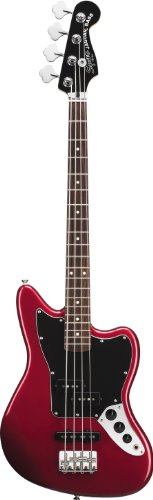 Squier by Fender Vintage Modified Jaguar Special Short Scale Bass, Candy Apple Red
