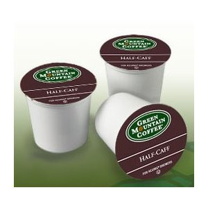 Green Mountain Coffee Half-Caff, 24-Count K-cups for Keurig Brewers (Pack of 2) (Half The Caf Keurig Cups compare prices)