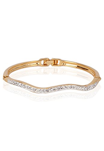 Estelle Estelle Gold Plated Bracelet With Crystals(100884) (Transperant)