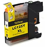 1 New Version Premium Quality High Capacity 100% Compatible Ink Cartridge for Brother LC-125XL DCP MFC J4110DW J4410DW MFC J4510DW MFC J4610DW MFC J4710DW Compatible with LC125XL (1 Yellow)