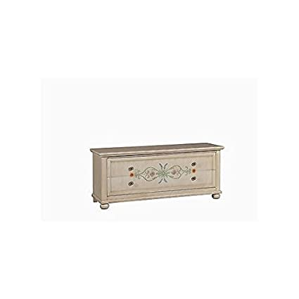 CREDENZA PORTA TV LEGNO DECORATO A MANO DIPINTO ANTICATO COUNTRY COLLECTION