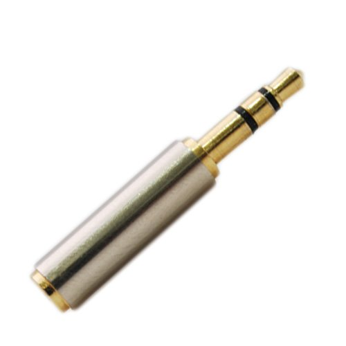 Elp Gold 3.5Mm Headsets Stereo Audio Adapter For Iphone Female To Standard Male Jack A4S