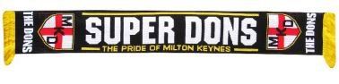 Mk Dons Football Scarf