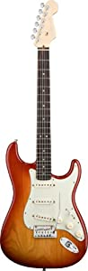 Buy Fender American Deluxe Stratocaster, Rosewood Fretboard - Aged Cherry Sunburst by Fender