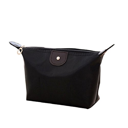 Culater-Femmes-Trousses-Grand-Volume-Maquillage-Sac-tanche-Trousse-de-Maquillage-noir
