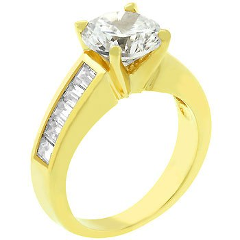 14K Gold Bonded 2ct Round Cut CZ Anniversary Ring