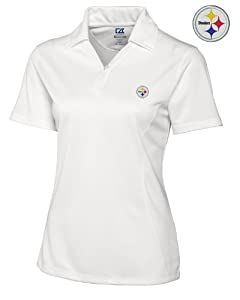 Pittsburgh Steelers Ladies Ladies Drytec Genre Polo White by Cutter & Buck