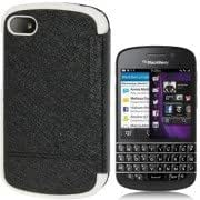 High Quality Silver Hairline Texture Horizontal Flip Leather Case for BlackBerry Q10(Black)