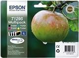 Epson T1295 Multipack - Print cartridge - 1 x black, yellow, cyan, magenta - blister - for Stylus SX230, SX235, SX430, SX438; WorkForce WF-3010, 3520, 3530, 3540, 7015, 7515, 7525