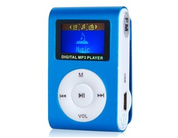 "Lxl® 1.0"" Lcd Screen Clip Mp3 Player With Fm &Amp- Tf Card Slot (Blue)"