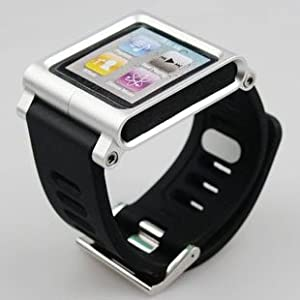 Bracelet silver avec cadre en aluminium pour Apple iPod Nano 6G 6ème Génération 8 go gb & 16 go gb