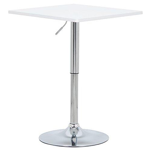 WOLTU-BT03ws-Bartisch-Bistrotisch-Partytisch-Design-Tisch-mit-Trompetenfu-drehbare-Tischplatte-aus-robustem-MDF-hhenverstellbar-Dekor-Wei