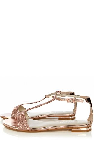 Jewel Encrusted Flat Sandal
