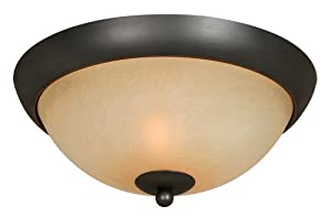 Hardware House 543744 Berkshire 12-inch By 5-14-inch Ceiling Lighting Fixture Oil-rubbed Bronze by Hardware House
