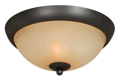 Hardware House 543744 Berkshire 12-Inch by 5-1/4-Inch Ceiling Lighting Fixture Oil-Rubbed Bronze