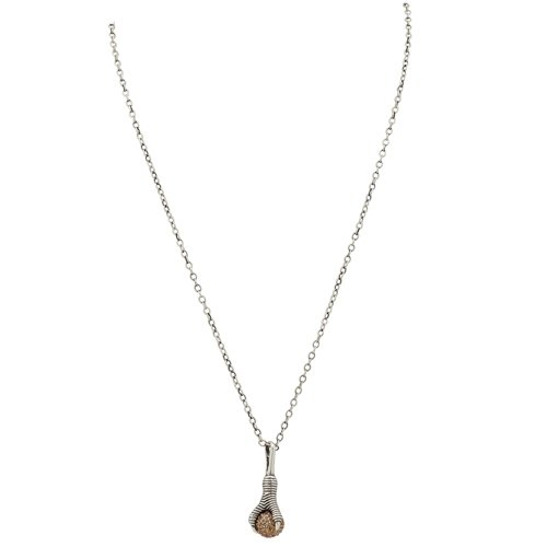 House of Harlow 1960 - Talon and Diamond Pendant with Dorado silver