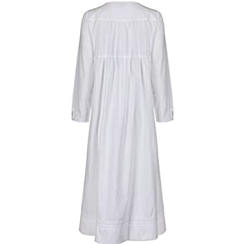 The 1 for U 100% Cotton Nightgown Vintage Design with Pockets - Victoria