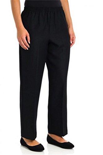 Alfred Dunner Classics Petite Elastic Waist Pants Black 18p M (Alfred Dunner Classics compare prices)