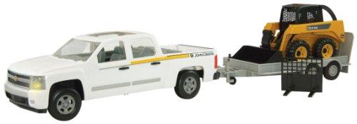 Ertl Big Farm 1:16 Truck Skidsteer And Flatbed Utility Trailer