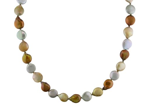 Multi-Colored Cultured-Freshwater Cultured Pearl Necklace, 32