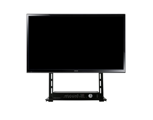 Mount-It! Low Profile Flat Panel Tv Mount And Glass Entertainment Center Combo front-954787