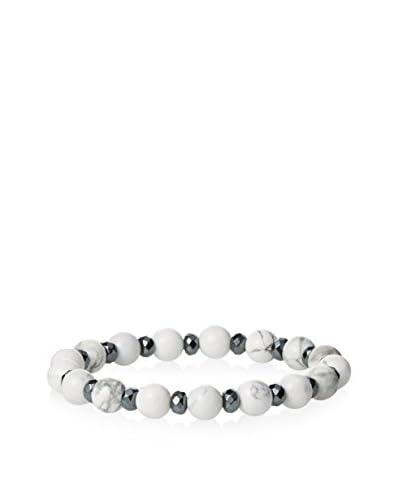 Devoted Men's Smooth White Howlite Bracelet