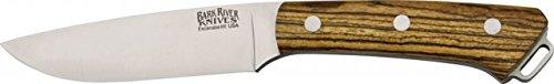 Bark River Fox River Hunter Fixed Blade Knife, Tool Steel Drop Point Blade, Bocote Wood Ba130Wb