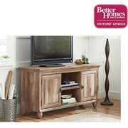 "Better Homes and Gardens Crossmill Weathered Collection TV Stand for TVs up to 65"", Lintel Oak"