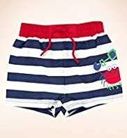 Pure Cotton Stripe Crab Shorts