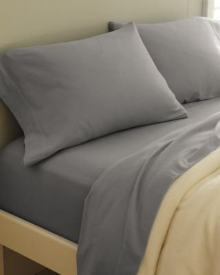 Paintbrush Cotton Flannel Sheets - Standard - Pillowcases - Heather Gray front-947833