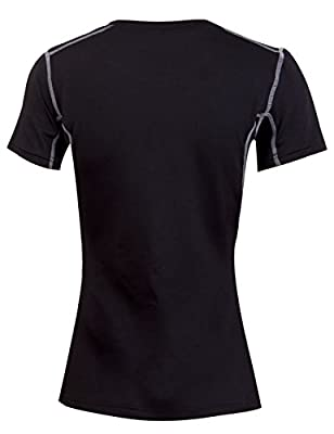 DDSOL Women's Base Layer Short Sleeve Sports Training Compression T-Shirt
