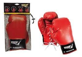 Guantoni boxe SPORT ONE rosso nero pugilato PU
