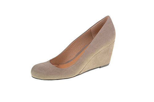 CL by Chinese Laundry Women's Nima Super Suede Wedge Pump, Dark Taupe, 7.5 M US