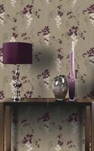 Arthouse Vintage Fuchsia Wallpaper - Plum from New A-Brend