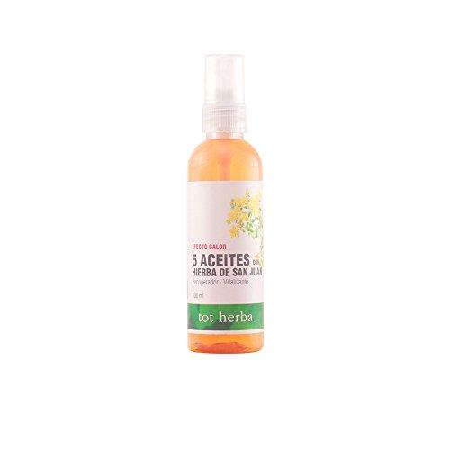 Tot Herba Lozione Corporale, Aceite Masaje 5 Aceites, 100 ml