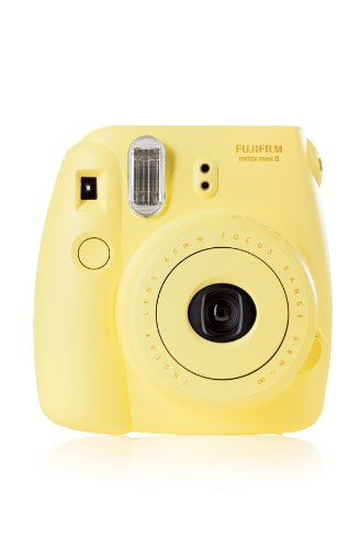 Fujifilm 16427743 Instax Mini 8 Sofortbildkamera (62 x 46 mm) gelb