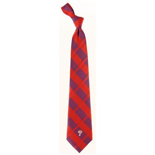 Philadelphia Phillies Woven Plaid Necktie at Amazon.com