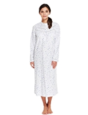 Pure Cotton Winceyette Floral Nightdress