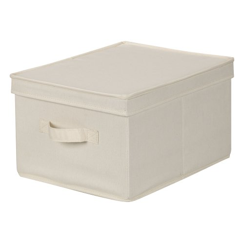Household Essentials Large Organization Storage Box, Natural Canvas (Canvas Clothing Storage compare prices)