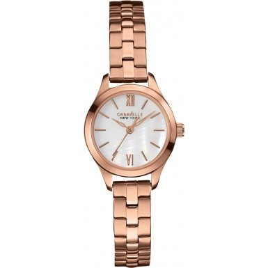Caravelle New York 44L156 Ladies Dress Rose Gold Steel Bracelet Watch