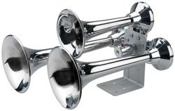 Siberian Expresstm Train Horn With 152Db/150Hz Output - Chrome Finish-2Pack