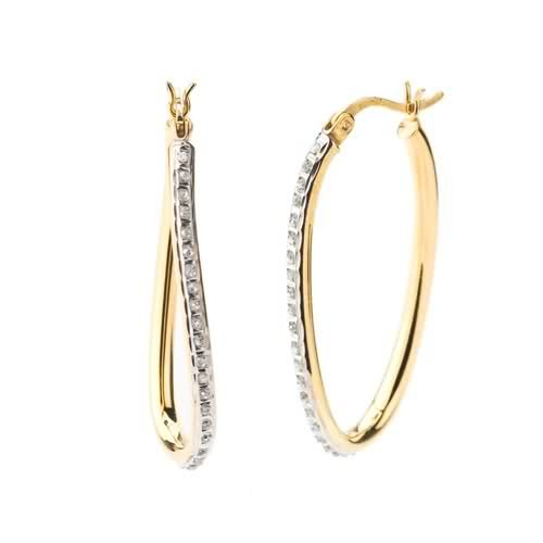 Diamond Mystique ® 18k Yellow Gold Over Sterling Silver Diamond Accent Figure 8 Earrings