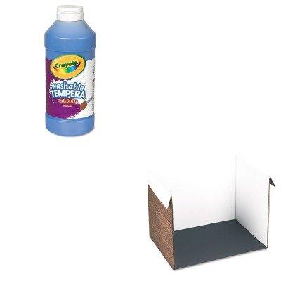 kitcyo543115042pac91100-value-kit-pacon-corrugated-study-carrel-pac91100-and-crayola-artista-ii-wash