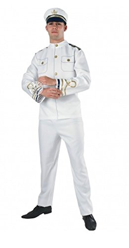 Adult Navy Officer Xlarge Mens Sailor Uniform Fancy Dress Costume Outfit