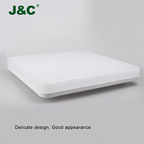 J & C® Elegante Ø280* 48mm 18W 1550LM Wet Room lampada da soffitto bianco neutro 4000K 4500K, Ra 8090% risparmio IP44LED rotonda 18.00 wattsW, 230.00 voltsV