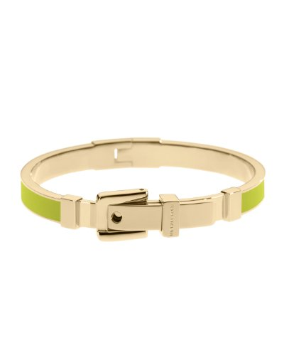 Michael Kors Mkj2278 Gold And Green Bangle Bracelet