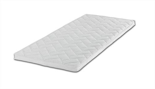 Gelschaum-Topper Breckle Robby 7-Zonen-Bohrung Gesamthöhe 8 cm, mit waschbarem Bezug, RG 60 - Grösse 90x200 thumbnail