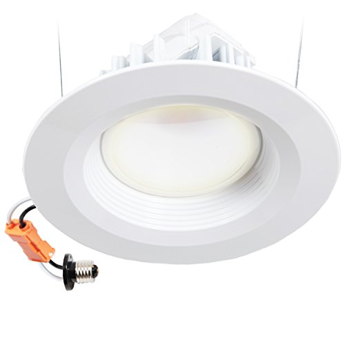 "Maxxima Dimmable Led 6"" Retrofit Downlight Fixture Warm White 2700K, 900 Lumens, Energy Star"